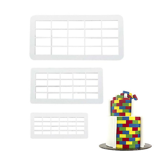BRICK RECTANGLE Impression Cutter - Set of 3