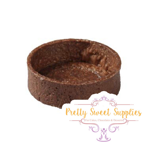 ROUND Medium CHOCOLATE Tart Shells 5.5cm