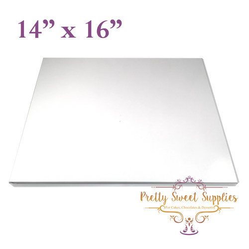 "Cake Board Rectangle MDF 14"" x 16"" WHITE"