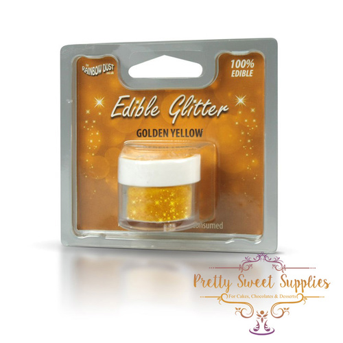 GOLDEN YELLOW Edible Glitter (100% Edible!)