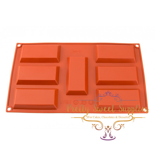 GOLD BAR 7 Cavity Silicone Mould