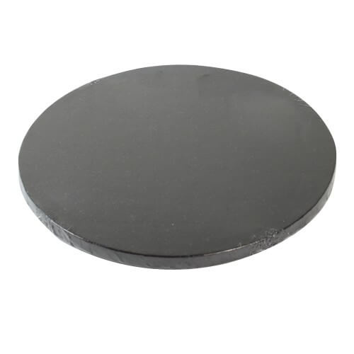 "MDF Drum Cake Board ROUND 16"" BLACK"