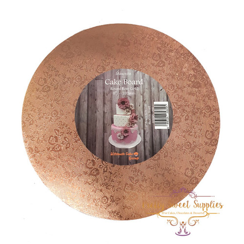 "MDF Cake Board Round ROSE GOLD 10"" / 254mm"