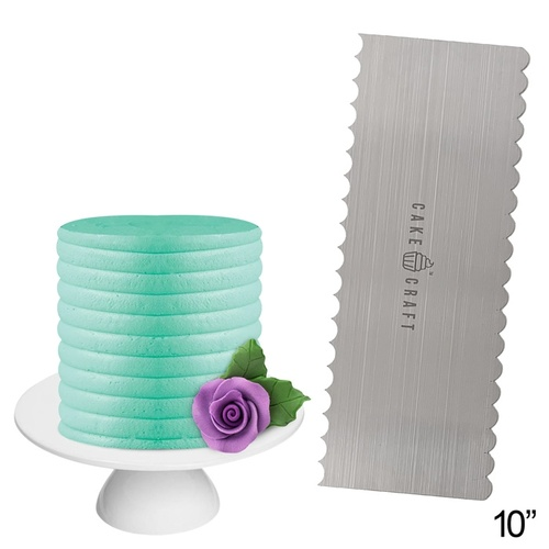 CURVES Stainless Steel Buttercream Comb - 10 inch